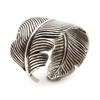 Feather Ring Silver Color Adjustable Size Men's and Womens Rings Jewelry from Carpe Diem