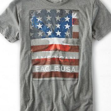 AEO Men's Signature Graphic T-shirt (Grey)