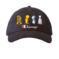 Talento Champs Throphy Dad Hat In Black