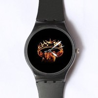 Custom Game of Thrones Watches Classic Black Plastic Watch WT-0807