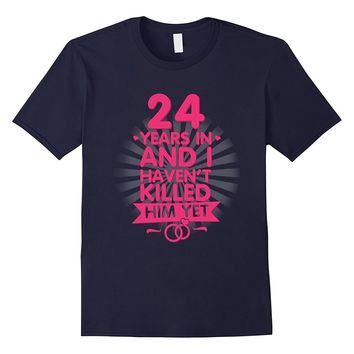 24 Years of Marriage T shirt. 24th Anniversary Gift for Wife