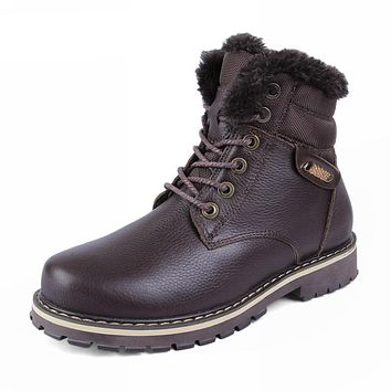 Round Toe Work and Safety Leather Boots