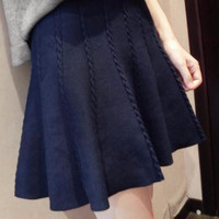 【Pre-Order】Braid Knit Skirt