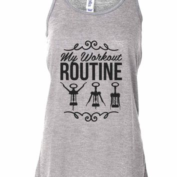 My Workout Routine - Bella Canvas Womens Tank Top - Gathered Back & Super Soft