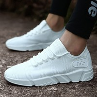 New Men's Fashion Breathable Sneaker Casual Flat Light Running Sport Shoes Mesh Platform Shoes