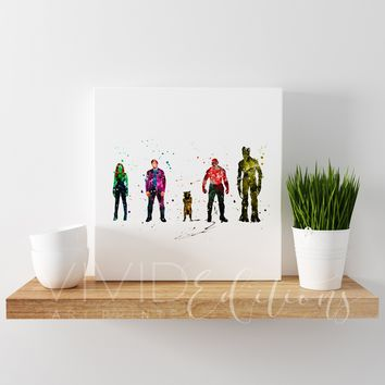 Guardians of the Galaxy Gallery Wrapped Canvas