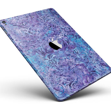 "Purple Damask v2 Watercolor Pattern V2 Full Body Skin for the iPad Pro (12.9"" or 9.7"" available)"