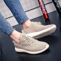 New Sneaker Fly Woven Running Shoes Unisex Sport Breathable