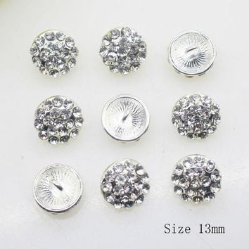 PEAPGC3 NEW 10PCS/LOT 13MM Round Deacorative buttons DIY Ribbon  Invitation Alloy bra button Shirt  Accessory Free shippng