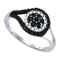 Diamond Fashion Ring in 10k White Gold 0.54 ctw