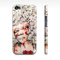 iPhone5/5s phone case, iPhone 5s case, watercolor  girl art phone case, iPhone 5s cover, cellphone case, hardcover iPhone 5s case