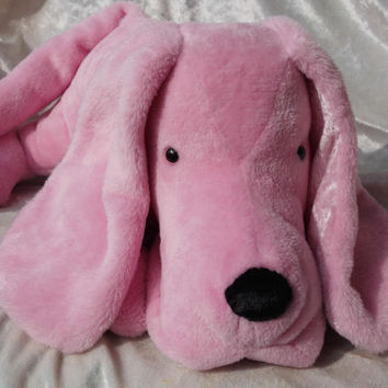 Stuffed animal dog PINK FLOPPY PUPPY dog plush toy soft stuffed dog basset hound plush soft toy dachshund plush stuffed animal pink doxie