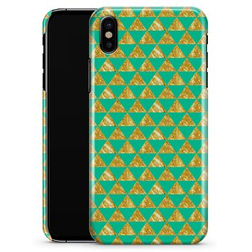 Summer Green and Gold v1 - iPhone X Clipit Case