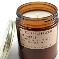 no. 2: apple picking - 7.5 oz soy wax candle - apothecary style jar - autumn or fall candle - apple cider harvest - burns for 40 hours