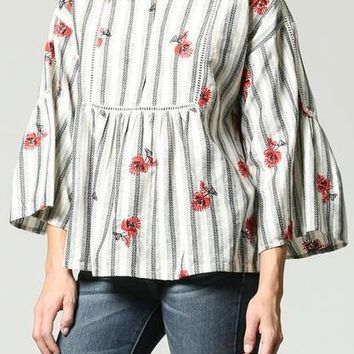 Serah Cotton Peasant Top