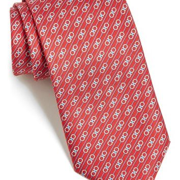 Men's Salvatore Ferragamo Gancini Print Silk Tie, Size Regular