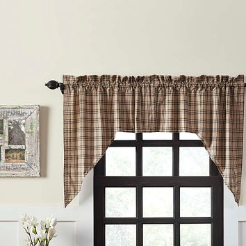 Sawyer Mill Charcoal Swag Curtains