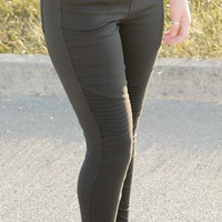 Lacey Moto Jeggings-Black