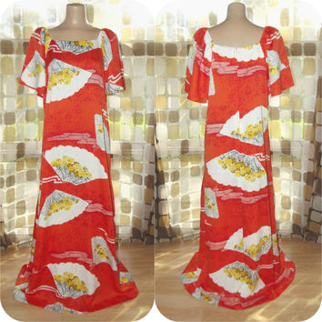 Plus size hawaiian muumuu dresses