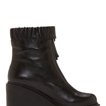 Opening Ceremony Black Leather Luna Boot
