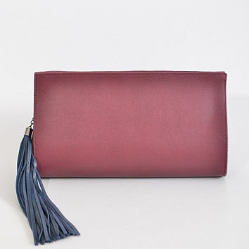 Two Tone Tassel Clutch (+ Colors)