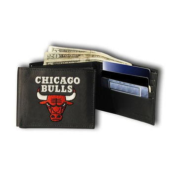 Chicago Bulls NBA Embroidered Billfold Wallet