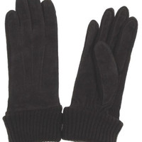 Jaclyn Smith Brown Leather Driving Polyester Suede Knit Gloves 3M Thinsulate NEW