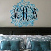 Monogram Flower Wall Decal