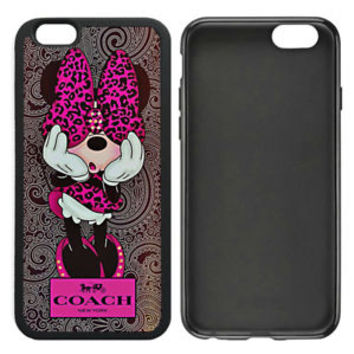 Special!! Disney Coach.11k Minnie Mouse Cover For iPhone 7 7+ Hard Plastic Case