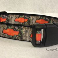 Orange Chevy with Camo Dog Collar