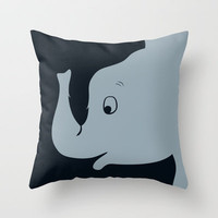 Dumbo Throw Pillow by Citron Vert
