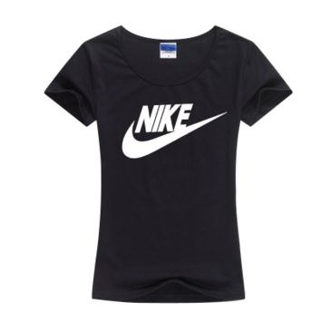 """""""Nike"""" Women Simple Casual Classic Letter Print Round Neck Short Sleeve Cotton T-shirt"""