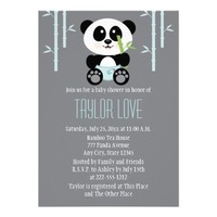 Blue Bamboo Panda in Diapers Baby Shower