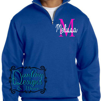 Darling Personalized with name 1/4 Zip  Sweatshirts