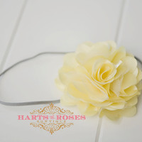 Baby Headband..Baby Girl Headband..Baby Headbands..Yellow Flower Headband..Girl Headband..15% off Entire Order