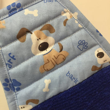 Dog Kitchen Towel,Dog Towel,dog decor,Dog Lover Gift,Dog,Hand Towel,Blue Towel,Tea Towel,Kitchen Decor,Puppy,Gift For Her,Mothers Day Gift