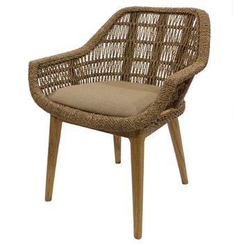 Leia Rattan Side Chair, Natural