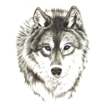 Waterproof Temporary Tattoo Stickers 3D Wild Horror Wolf Animals Design Body Art Makeup Tools