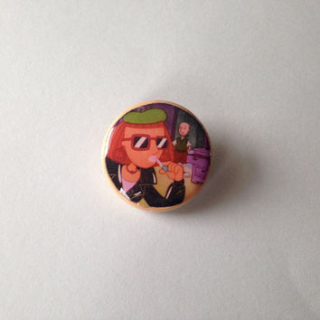 Judy Funny 90's Nickelodeon Doug pinback button pin
