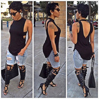 2017 Fashion Women Summer Vest Top Sleeveless Blouse Casual Tank Tops T-Shirt