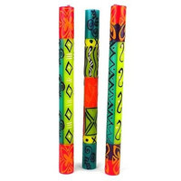 Set of Three Boxed Tall Hand-Painted Candles - Matuko Design - Nobunto