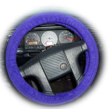 Pretty soft Purple fleece car steering wheel cover