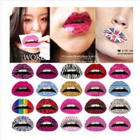 10 Pieces/lot Style Randomly Sent Newest Top Women's Sexy Lip Sticker Lipstick Lip Cosmetics Nightclub Tattoo Lipstick Art Makeup For Party Cosplay (Color: Multicolor) = 5660910465