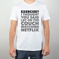 Lay on the Couch-Unisex White T-Shirt