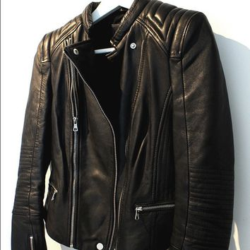 Zara Trafaluc Authentic Leather Jacket