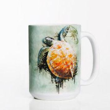 New SEA TURTLE CLIMB 15 OZ CERAMIC COFFEE MUG   the mountain