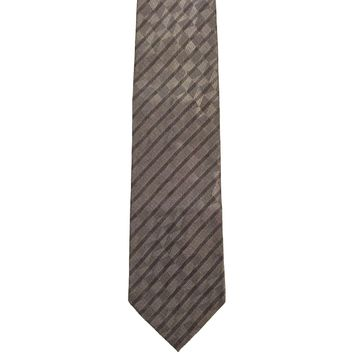 Tongue Tied by Tom McLeilon Foulard Wide Silk Tie - Gray
