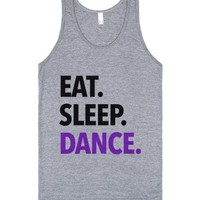 Eat Sleep Dance Tank Top Purple Black (ida610216)-Tank