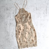 dulce open back embroidered dress