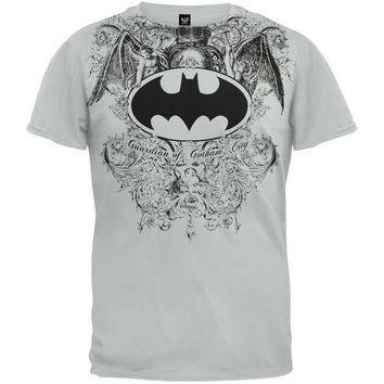 Batman - Filla Sign All Over T-Shirt (Size: S, Color: Grey)